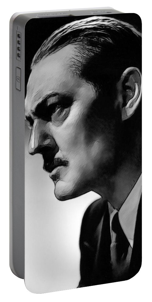 Celebrity Portable Battery Charger featuring the drawing Lionel Barrymore 002 by Dean Wittle