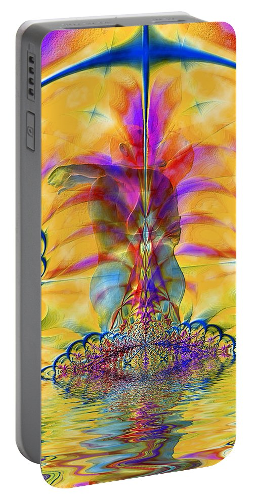 Nude Portable Battery Charger featuring the photograph Liquid Lace by Kurt Van Wagner