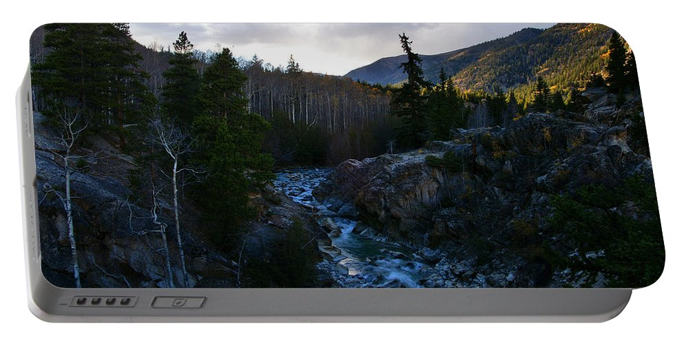 Colorado Portable Battery Charger featuring the photograph Liquid Silver by Jeremy Rhoades