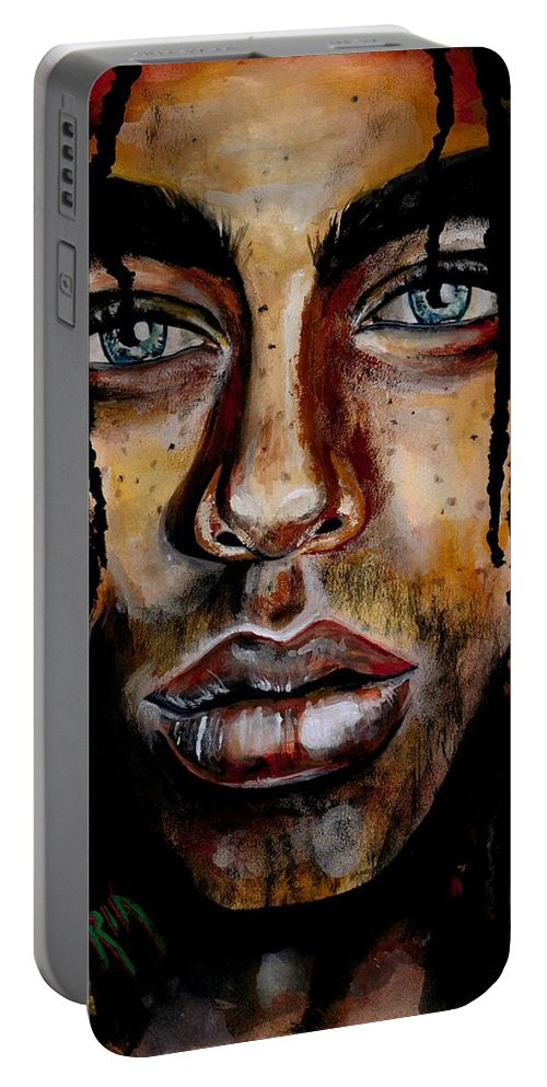Sexy Portable Battery Charger featuring the photograph Liquid Stare by Artist RiA