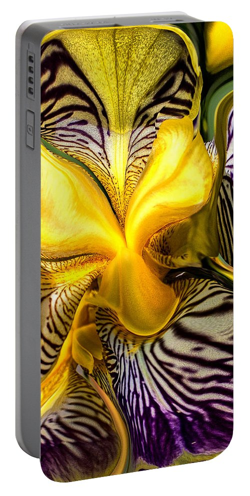 Orchid Portable Battery Charger featuring the photograph Liquified Orchid by Diana Powell