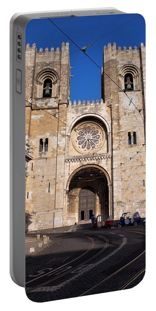 Lisbon Portable Battery Charger featuring the photograph Lisbon Cathedral In Portugal by Artur Bogacki