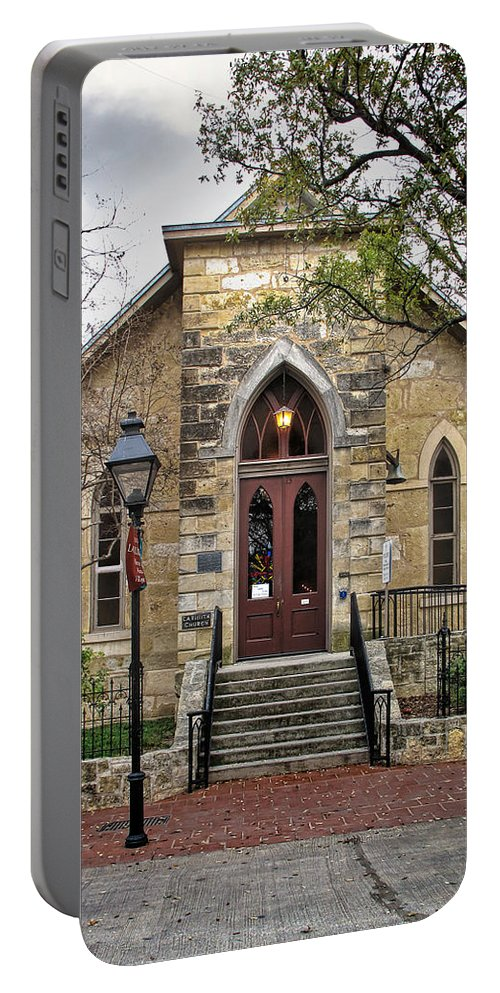 Archway Portable Battery Charger featuring the photograph Little Church At La Villita by David and Carol Kelly
