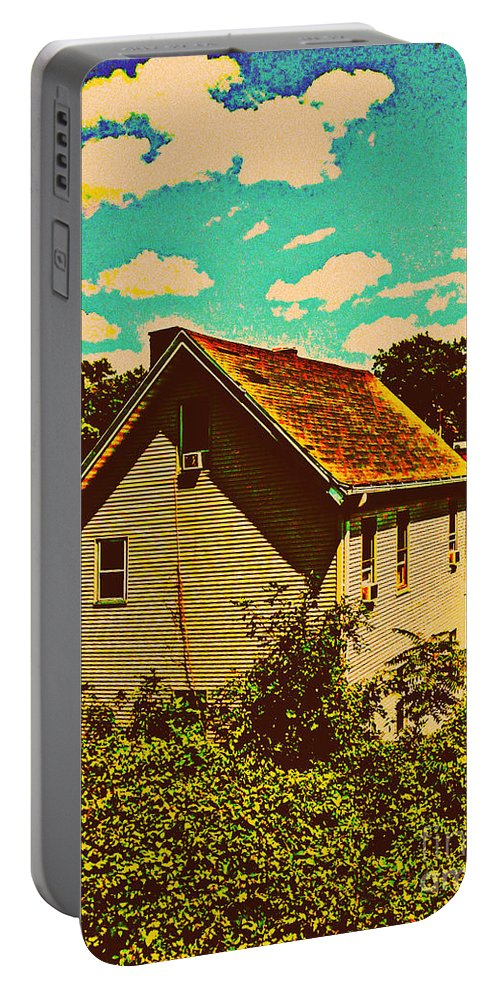 Architecture Portable Battery Charger featuring the photograph Little House - The World Around New York City by Miriam Danar
