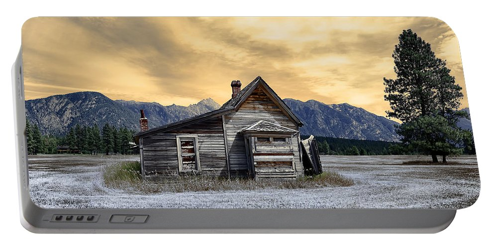 Architecture Portable Battery Charger featuring the photograph Little House On The Prairie by Wayne Sherriff