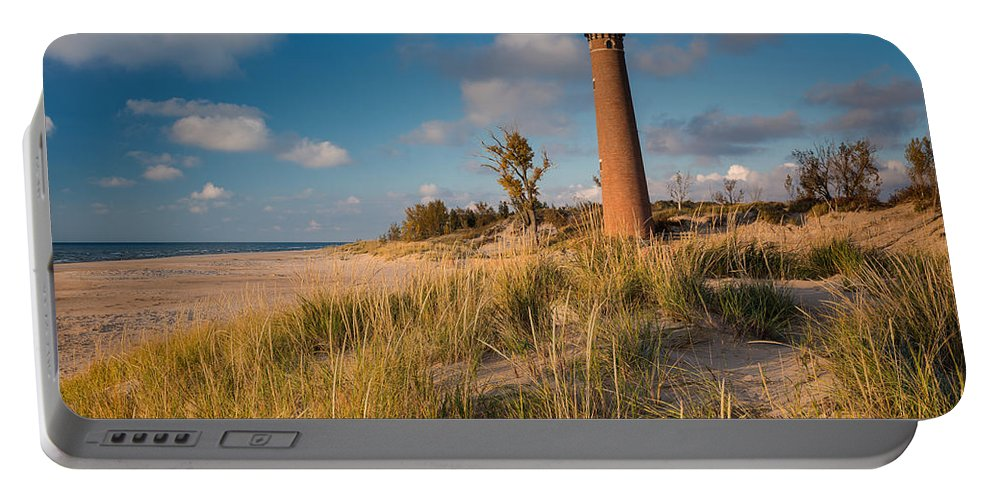 Light Portable Battery Charger featuring the photograph Little Sable Light Michigan by Steve Gadomski