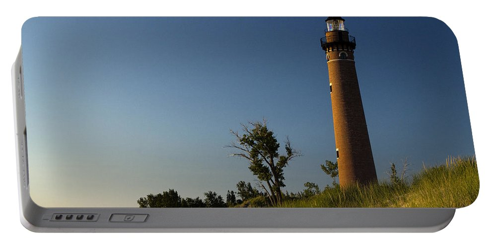 Art Portable Battery Charger featuring the photograph Little Sable Lighthouse By Silver Lake Michigan No.557 by Randall Nyhof