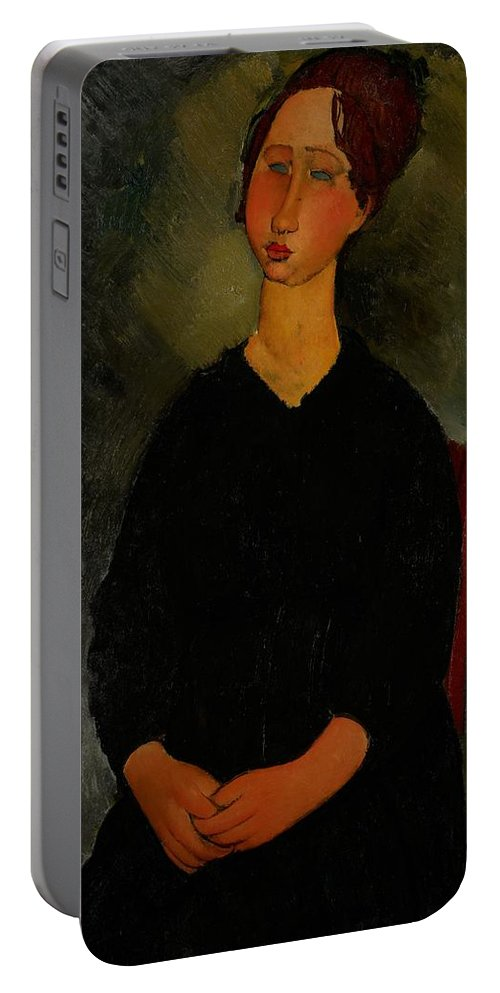 Amedeo Portable Battery Charger featuring the painting Little Servant Girl by Amedeo Modigliani