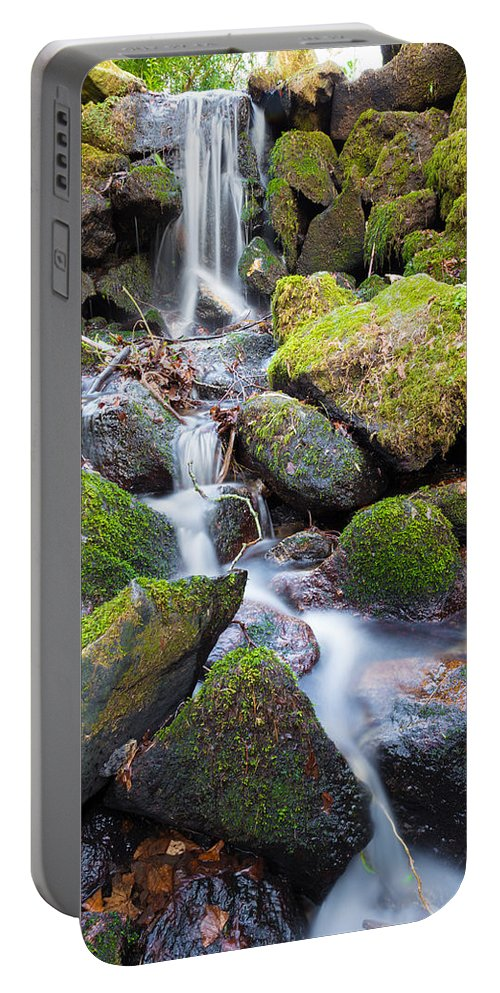 Dublin Portable Battery Charger featuring the photograph Little Waterfall In Marlay Park by Semmick Photo