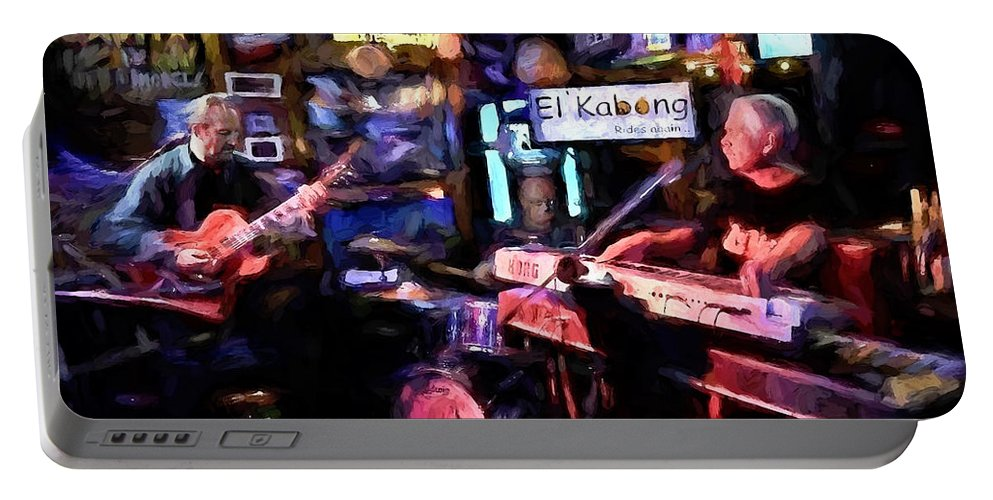 Band Portable Battery Charger featuring the digital art Live At Shifty's by David Francey