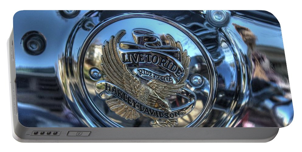 Harley Portable Battery Charger featuring the photograph Live To Ride by Jane Linders