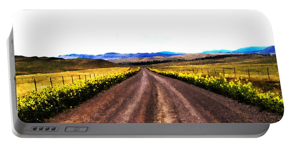 Dirt Roads Portable Battery Charger featuring the photograph Living On Back Roads by Susan Kinney