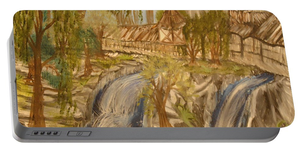 House Portable Battery Charger featuring the painting Living With Water by Suzanne Surber