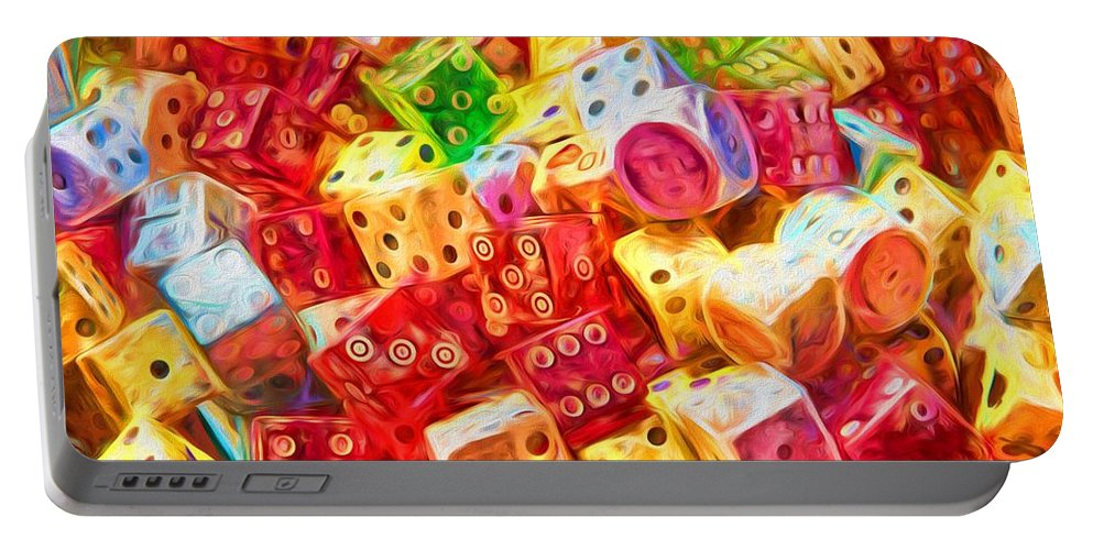 Dice Portable Battery Charger featuring the photograph Loaded Dice by Alice Gipson