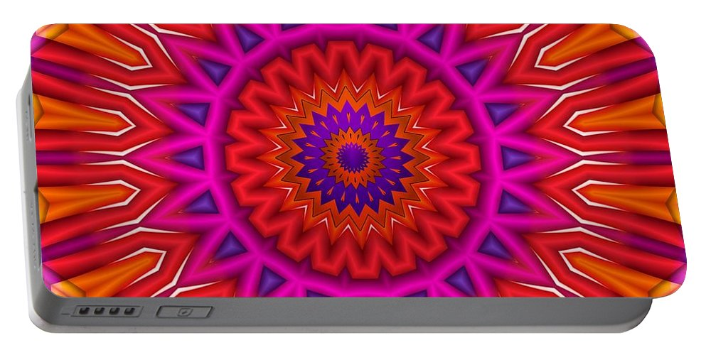 Orange Portable Battery Charger featuring the digital art Loaded by Robert Orinski