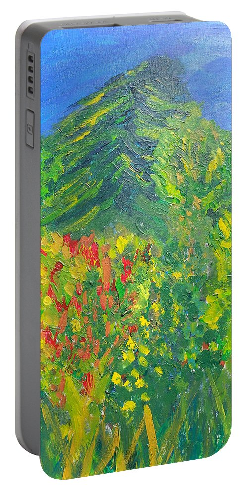 Trees Portable Battery Charger featuring the painting Local Trees by David Trotter
