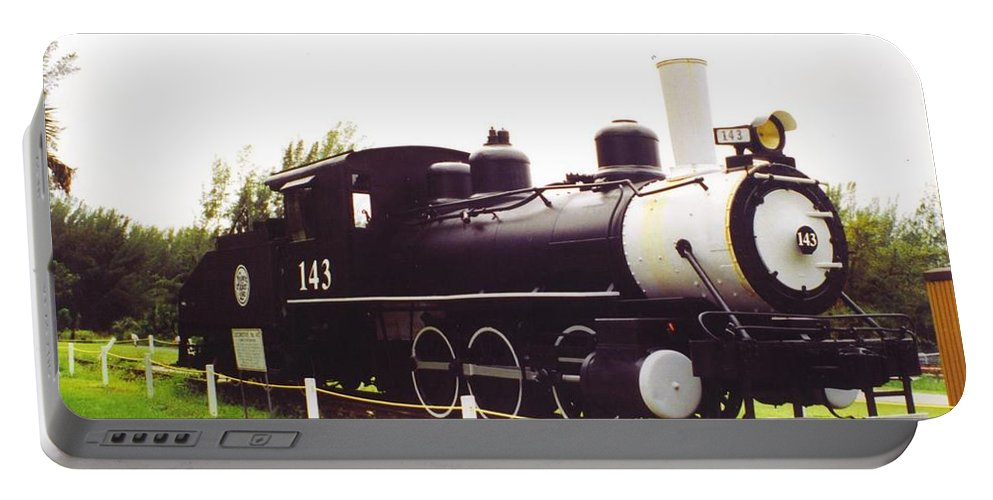 Lakes Park Portable Battery Charger featuring the photograph Locamotive Engine Landscape by Robert Floyd