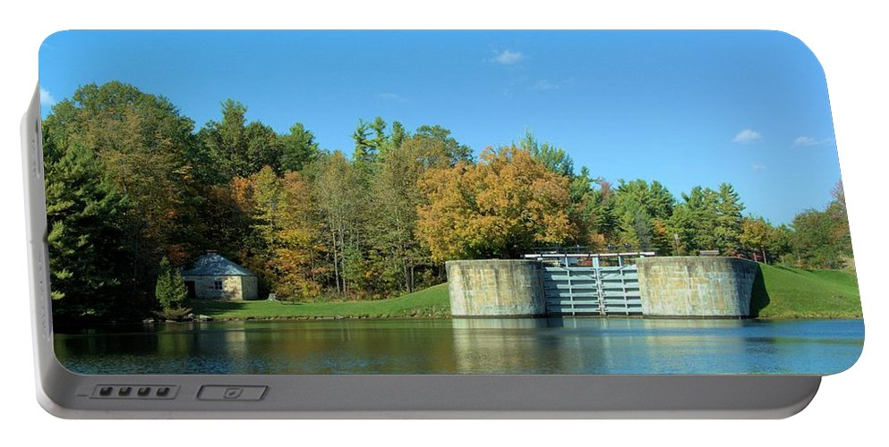 Rideau Canal Portable Battery Charger featuring the photograph Lock Gates by Valerie Kirkwood