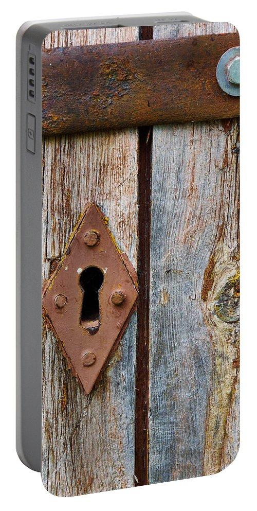 Lehto Portable Battery Charger featuring the photograph Lock by Jouko Lehto