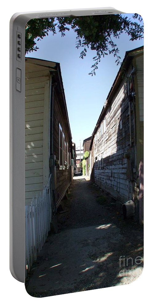 Alley Portable Battery Charger featuring the photograph Locke Chinatown Series - Back Alley - 6 by Mary Deal