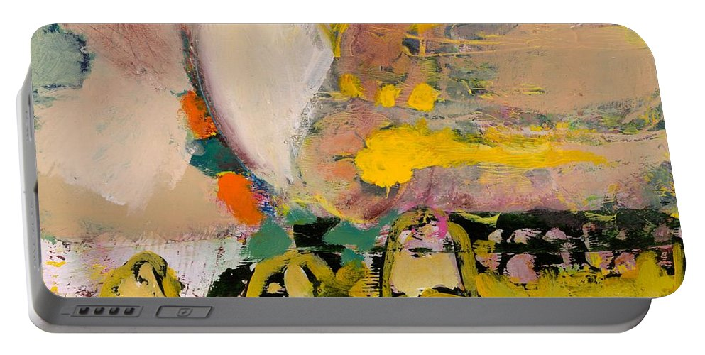 Landscape Portable Battery Charger featuring the painting Locomotion by Allan P Friedlander