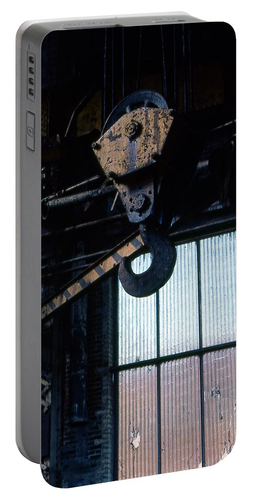 Hooks Portable Battery Charger featuring the photograph Locomotive Hook by Richard Rizzo