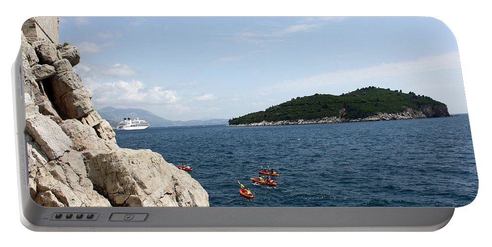 Dubrovnik Portable Battery Charger featuring the photograph Lokrum From Buza by David Nicholls