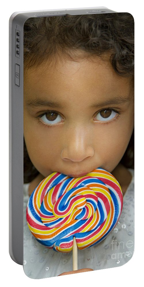 Miss Portable Battery Charger featuring the photograph Lollipop by Evelina Kremsdorf