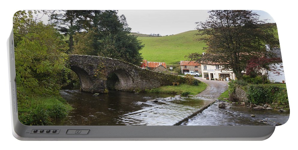 Malmsmead Portable Battery Charger featuring the photograph Loma Doone Farm Malmsmead by Chris Smith