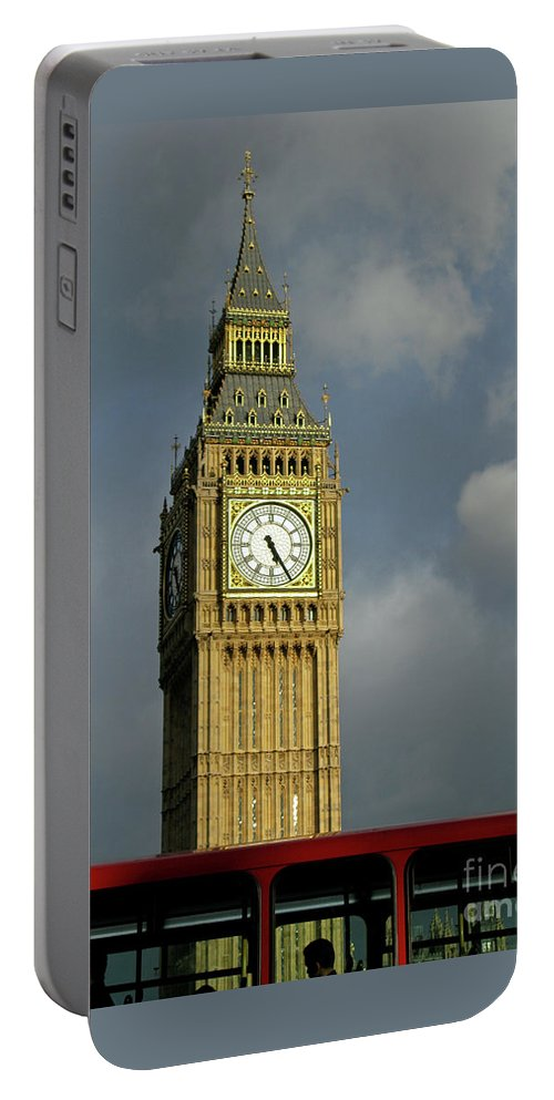 London Icons By Ann Horn Portable Battery Charger featuring the photograph London Icons by Ann Horn