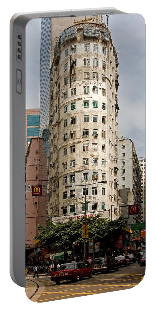Itman Portable Battery Charger featuring the photograph London Itman Centre Building In Hong Kong by Anders Hingel