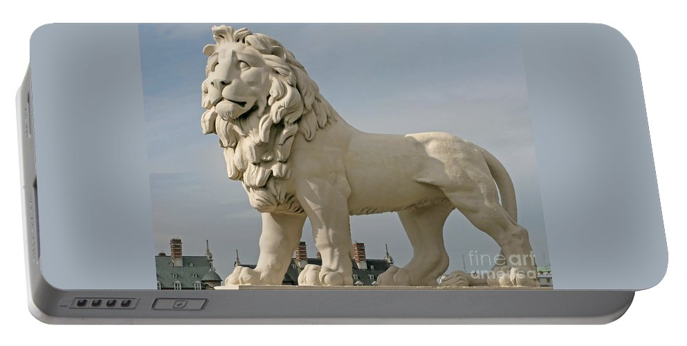 London Lion By Ann Horn Portable Battery Charger featuring the photograph London Lion by Ann Horn