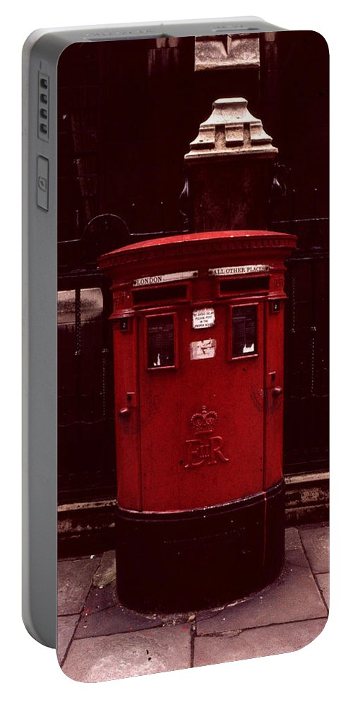 Cityscape Portable Battery Charger featuring the photograph London Post Box by David Hohmann