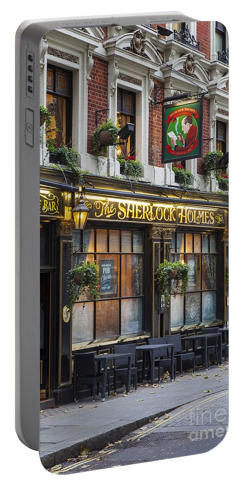 Alley Portable Battery Charger featuring the photograph London Pub by Brian Jannsen