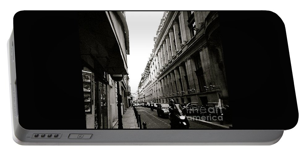 Metro Portable Battery Charger featuring the photograph London Street by Anita Lewis