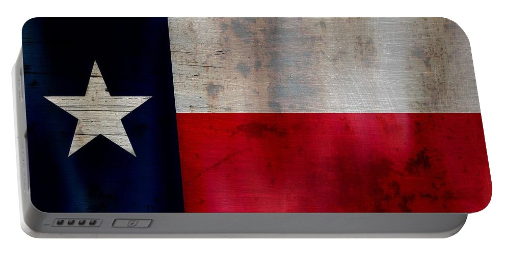 Rusted Texas State Flag Portable Battery Charger featuring the photograph Lone Star Flag by Dan Sproul