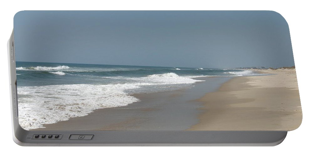 Beach Portable Battery Charger featuring the photograph Lonely Beach On Cape Hatteras by Christiane Schulze Art And Photography