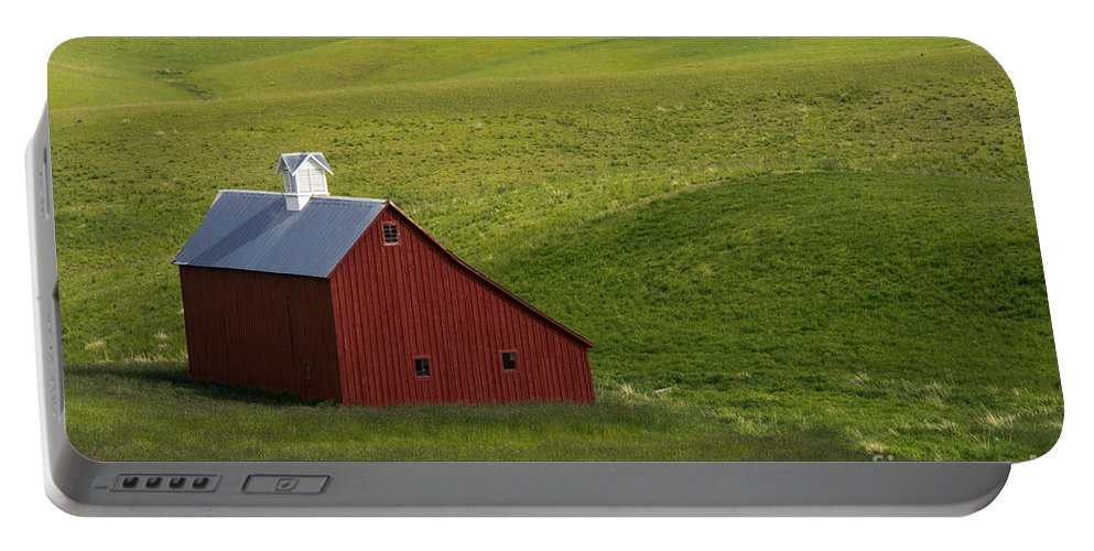 Palouse Area Portable Battery Charger featuring the photograph Lonely Red by Bob Phillips