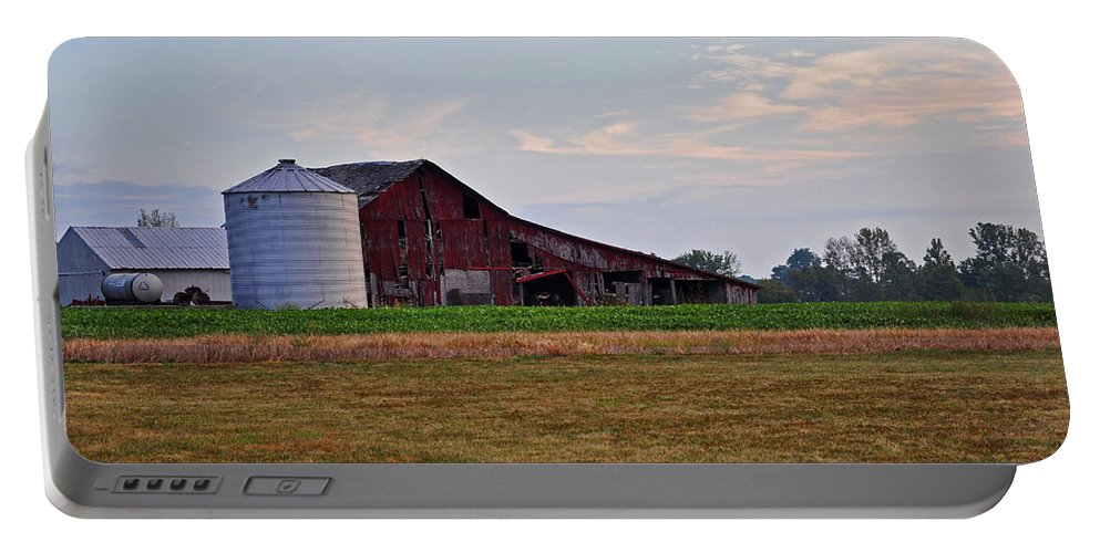 Barn Portable Battery Charger featuring the photograph Long Ago by Brittany Horton