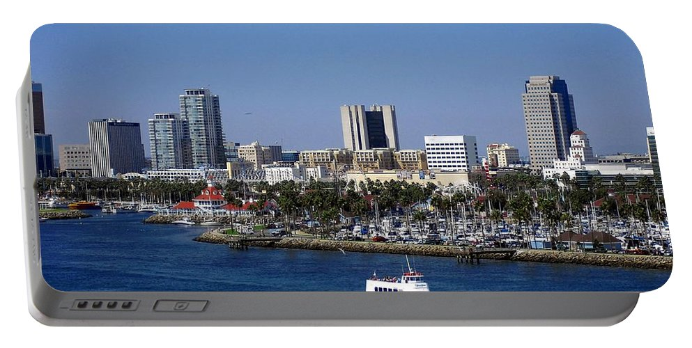 Ocean Portable Battery Charger featuring the photograph Long Beach by Athala Carole Bruckner