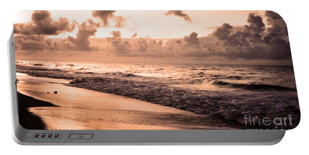 Tide Portable Battery Charger featuring the photograph Long Beach by Lydia Holly