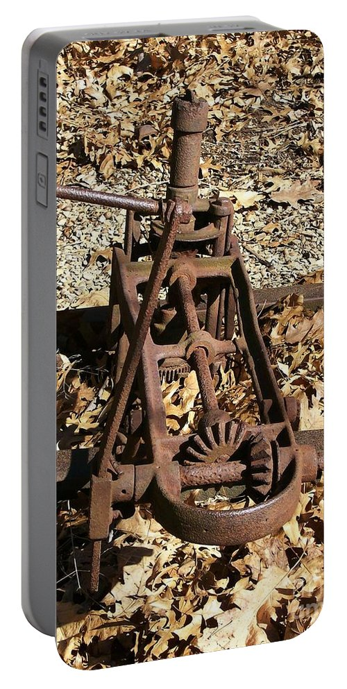 Railroad Portable Battery Charger featuring the photograph Long Forgotten by Sara Raber