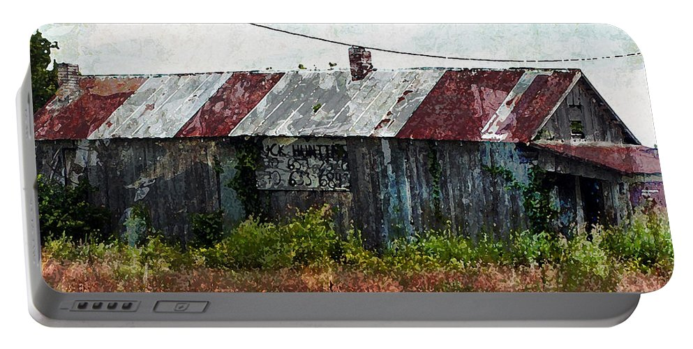 Abandoned Building Portable Battery Charger featuring the photograph Long Since Abandoned - Back To Nature by Marie Jamieson