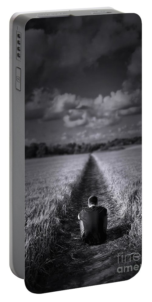 Air Portable Battery Charger featuring the photograph Long Way To Go by Svetlana Sewell