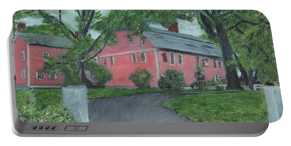 Historic Site Portable Battery Charger featuring the painting Longfellow's Wayside Inn by Cliff Wilson