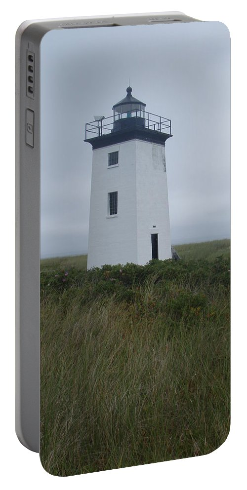 Longpoint Lighthouse Portable Battery Charger featuring the photograph Longpoint Lighthouse by Robert Nickologianis