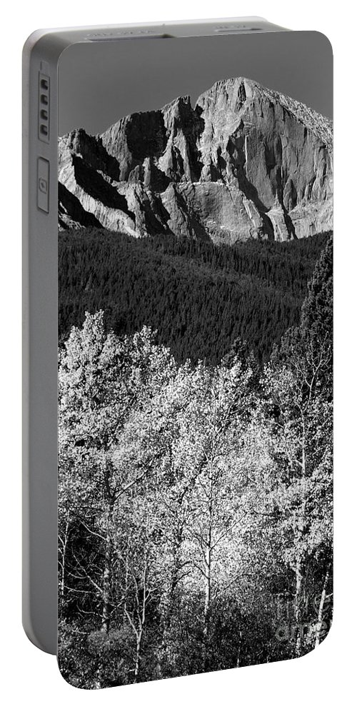 Longs Peak Portable Battery Charger featuring the photograph Longs Peak 14256 Ft by James BO Insogna