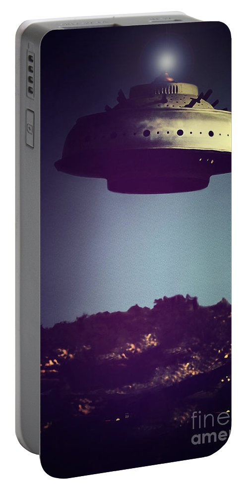 Portable Battery Charger featuring the photograph Look... It's A Flying Saucer by Trish Mistric