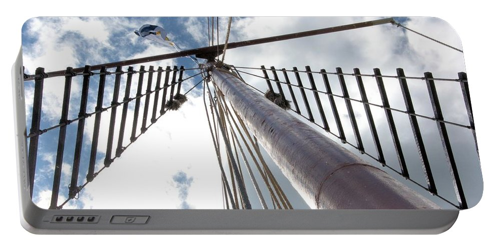 Tall Ship Portable Battery Charger featuring the photograph Look Way Up by Valerie Kirkwood