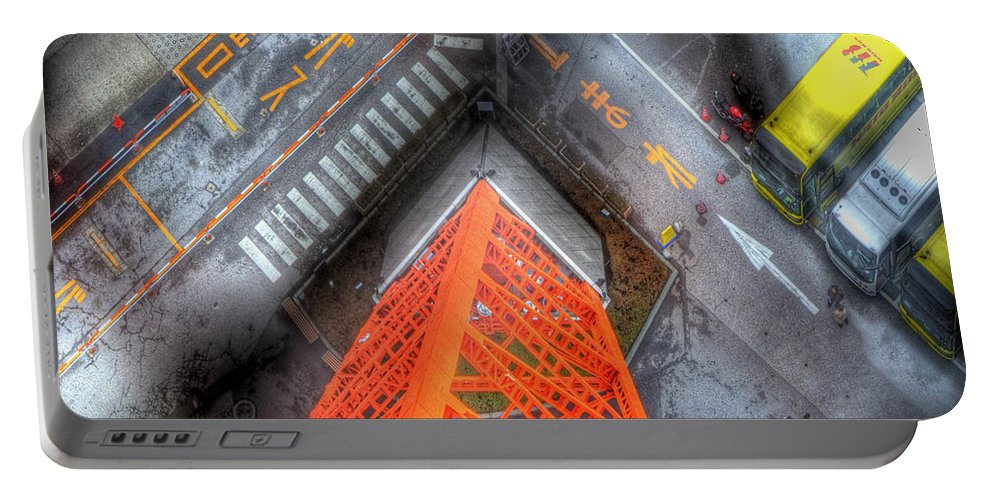 Abstract Portable Battery Charger featuring the photograph Looking Down by Juli Scalzi
